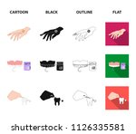 anesthetic injection  dental... | Shutterstock .eps vector #1126335581
