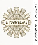 brown abstract linear rosette... | Shutterstock .eps vector #1126336751