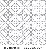 seamless geometric ornamental... | Shutterstock .eps vector #1126337927