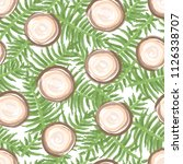 hand drawn seamless pattern... | Shutterstock .eps vector #1126338707