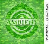 ambient realistic green emblem. ... | Shutterstock .eps vector #1126345601