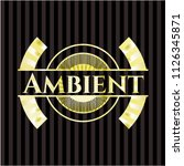 ambient shiny badge | Shutterstock .eps vector #1126345871