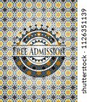free admission arabic badge... | Shutterstock .eps vector #1126351139