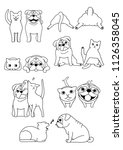 set of cat and dog pairs | Shutterstock .eps vector #1126358045
