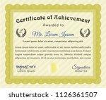 yellow classic certificate...   Shutterstock .eps vector #1126361507