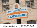 signage at the royal naval... | Shutterstock . vector #1126369067