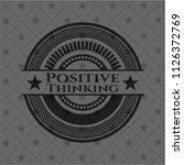 positive thinking black emblem | Shutterstock .eps vector #1126372769