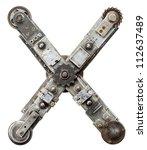 industrial metal alphabet... | Shutterstock . vector #112637489