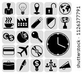 set of 22 business symbols of... | Shutterstock .eps vector #1126377791