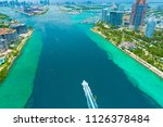 aerial view of miami beach ... | Shutterstock . vector #1126378484