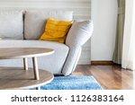 pillow on sofa decoration...   Shutterstock . vector #1126383164