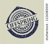 blue offspring rubber grunge... | Shutterstock .eps vector #1126383434