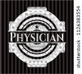 physician silvery emblem or... | Shutterstock .eps vector #1126383554
