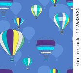 Seamless vector pattern with balloons