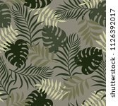tropical background with palm... | Shutterstock .eps vector #1126392017