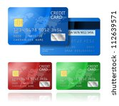 Realistic Vector Credit Card...