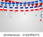 france flags celebration... | Shutterstock .eps vector #1126396271