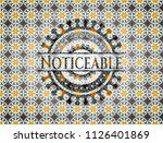 noticeable arabic emblem.... | Shutterstock .eps vector #1126401869