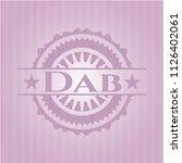 dab pink emblem | Shutterstock .eps vector #1126402061