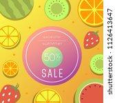 summer sale illustration | Shutterstock .eps vector #1126413647