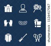 premium set of outline  fill... | Shutterstock .eps vector #1126417067