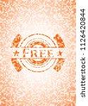 free orange mosaic emblem with... | Shutterstock .eps vector #1126420844