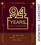 94 years golden anniversary...   Shutterstock .eps vector #1126422407