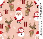 cute christmas holidays cartoon ... | Shutterstock .eps vector #1126431587