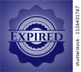 expired badge with denim texture | Shutterstock .eps vector #1126431767