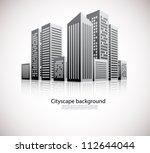 cityscape background | Shutterstock .eps vector #112644044