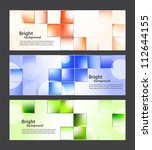 set of banners with bright... | Shutterstock .eps vector #112644155