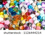 instead of alcohol poured into... | Shutterstock . vector #1126444214