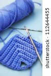 crochet  yarn and crochet hook   Shutterstock . vector #112644455