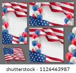 american patriotic festive...   Shutterstock .eps vector #1126463987