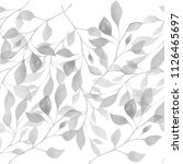 water color leaf  hand drawing   Shutterstock . vector #1126465697