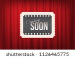 ticket with coming soon text on ... | Shutterstock .eps vector #1126465775