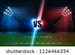 american football arena field... | Shutterstock .eps vector #1126466354