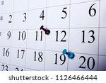 thumbtack in calendar concept...   Shutterstock . vector #1126466444
