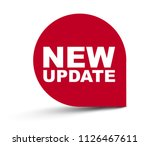 red vector banner new update | Shutterstock .eps vector #1126467611