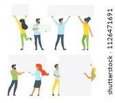 vector flat style set of people ... | Shutterstock .eps vector #1126471691