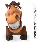 Stock photo fun horse 112647317