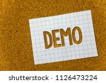 text sign showing demo.... | Shutterstock . vector #1126473224