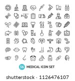 big medical signs black thin... | Shutterstock .eps vector #1126476107