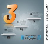 business 3d infographics... | Shutterstock .eps vector #1126476254