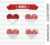 monaco with love. design vector ... | Shutterstock .eps vector #1126476989