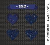 alaska with love. design vector ... | Shutterstock .eps vector #1126477049