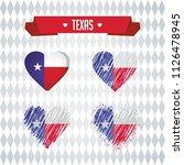 texas heart with flag inside.... | Shutterstock .eps vector #1126478945