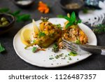 turkish  stuffed zucchini... | Shutterstock . vector #1126487357