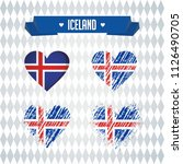 iceland with love. design... | Shutterstock .eps vector #1126490705