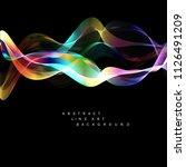 abstract line art  wavy lines ... | Shutterstock .eps vector #1126491209